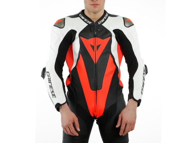 Dainese Laguna Seca 5 Einteiler 1513467N32 weiß schwarz rot racing suit lederkombi-8