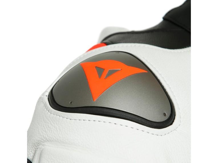 Dainese Laguna Seca 5 Einteiler 1513467N32 weiß schwarz rot racing suit lederkombi-9