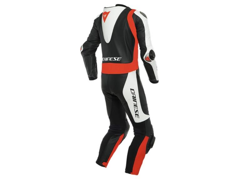 Dainese Laguna Seca 5 Einteiler 1513467N32 weiß schwarz rot racing suit lederkombi-groß 1800 x 1800 back
