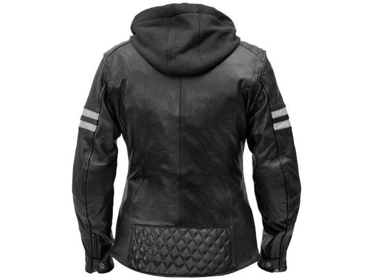 Rusty-Stitches_Joyce-hooded-black-white-BACK_Motorradjacke