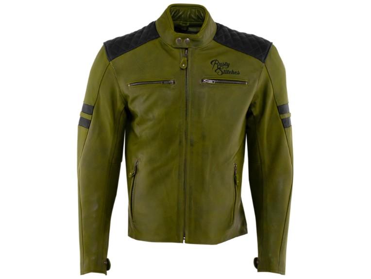 RustyStitches-68301-157-Jari-Motorrad-Lederjacke-green-black 1