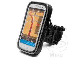 Smartphone Halterung mit Tasche für Motorrad Quad Fahrrad groß 167x90x20mm