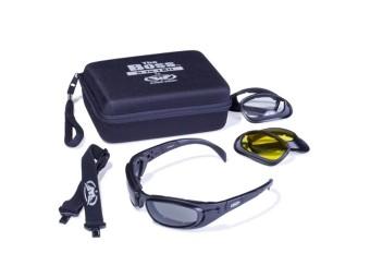 Boss Kit Antifog Bikerbrille mit 3x Wechselglas