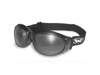 Eliminator Chopperbrille Bikerbrille mit Brillenband getönt klar