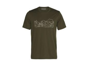 Tech Lite II  Ski Trip Men Merino T-Shirt Funktionsshirt Kurzarm