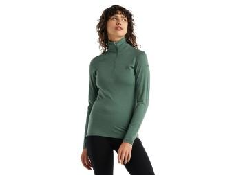200 Shirt Oasis Long Sleeve Half Zip Damen Langarmshirt Merino