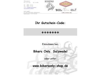 Geschenkgutschein Gutscheincode Bikers Only