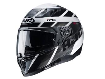 i70 Reden Integralhelm Motorradhelm Helm schwarz silber