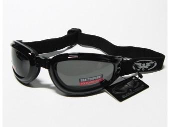 Mach 3 Bikerbrille klappbar mit Brillenband