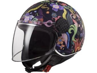 OF558 Sphere Lux Bloom Jethelm Motorrad Helm mit Visier