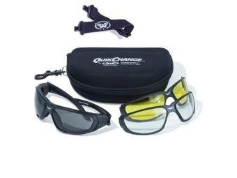Quick Change Kit Bikerbrille 3x Wechselgläser Brillenband