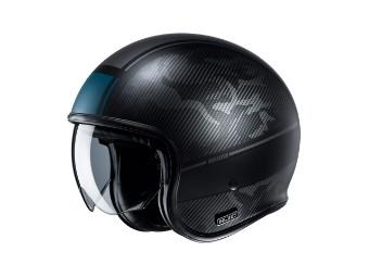V30 Alpi MC5SF Jethelm Helm mit Sonnenblende