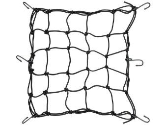 Gepäcknetz schwarz mit 6 Haken, 40 x 40 mm