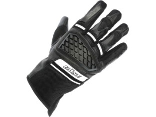 Motorradhandschuhe BRAGA schwarz weiß