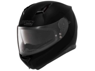 Motorradhelm N87 schwarz matt
