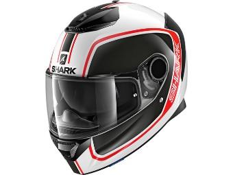 Motorradhelm SPARTAN Priona Gr.M weiß schwarz rot