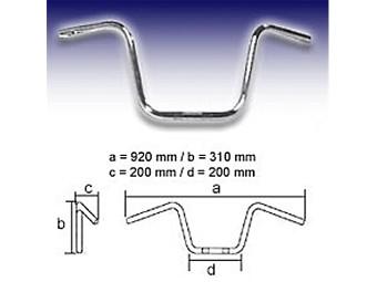 Lenker FEHLING - APE Hanger Middle 1 Zoll 310mm