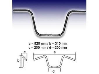 Lenker FEHLING-schwarz- APE Hanger Middle 1 Zoll