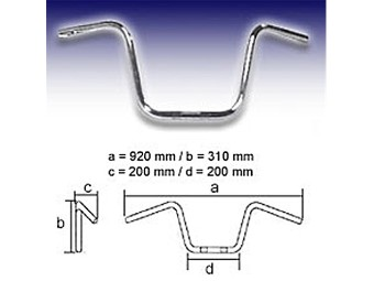 Lenker FEHLING - APE Hanger Middle 22mm 310mm