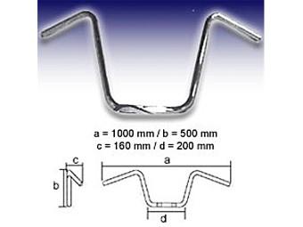 - APE Hanger X-Large 1 Zoll 500mm mit Kerben