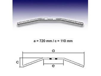 - Drag Bar Small, 7/8 Zoll, 72cm