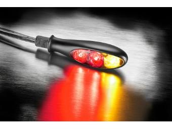 Rück-, Bremslicht, Blinker Einheit Micro S DF Dark, schwarz, getönt