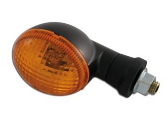 Mini-Blinker, oval, schwarz, kurz, E-gepr. Paar