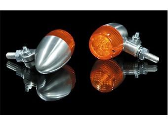 Blinker BULLET LIGHT 1, Aluminium poliert, E-gepr.