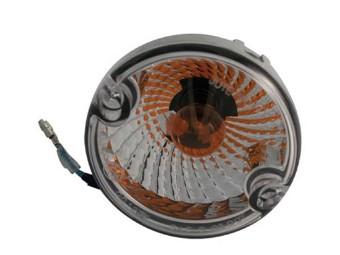 ATV-Blinker, D: 95 mm, Klarglas, gelbe Birne, Paar, E-geprüft