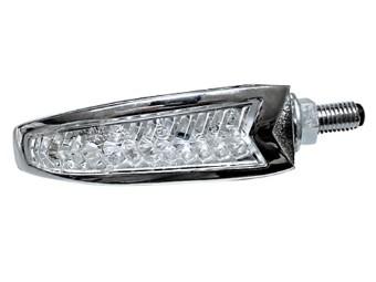 LED Blinker/Positionsleuchte DAKOTA, chrom, E-gep.