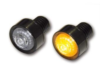 LED-Blinker MONO, schwarz, E-geprüft.