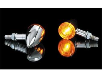 Blinker BULLET-LIGHT, verchromt, Paar, E-gepr.