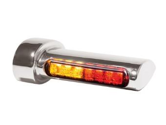 Winglets chrome 3in1 LED Rück-, Bremslicht, Blinker, alle H-D Modelle 93-