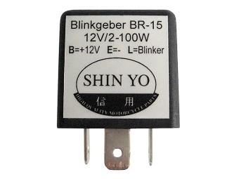 Blinkrelais 12 V 2/100 W, lastunabhängig