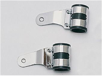 Uni-Lampenhalter, chrom, 43-47 mm, Paar