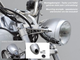 H4-Scheinwerfer 5-3/4 Zoll VINTAGE, chrom, E-geprüft
