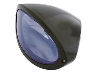 Scheinwerfer IOWA, schwarz, blaues Glas, Bef.unten