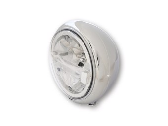7 Zoll LED-Scheinwerfer HD-STYLE TYP 4, chrom, untere Befestigung.