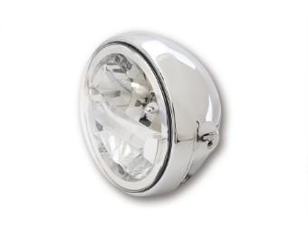 7 Zoll LED-Scheinwerfer BRITISH-STYLE TYP 4, chrom, seitl. Befestig