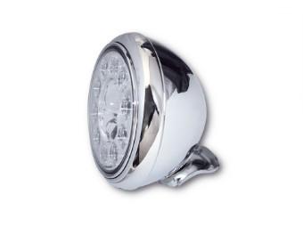 LED Scheinwerfer HD-STYLE, chrom, 7 Zoll, E-gepr.