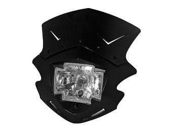 Lampenmaske GOTHIC, schwarz, H4 60/55W