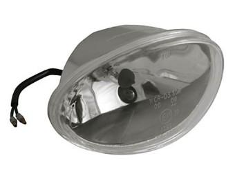 H4 Einsatz oval, 160 x 90mm, Klarglas, 12V 60/55W