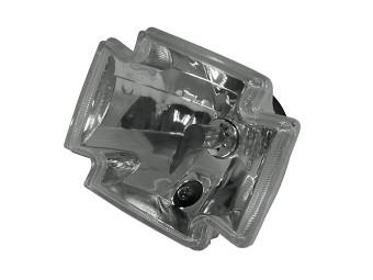H4 Einsatz GOTHIC, Klarglas, 12V 60/55W, E-gepr.