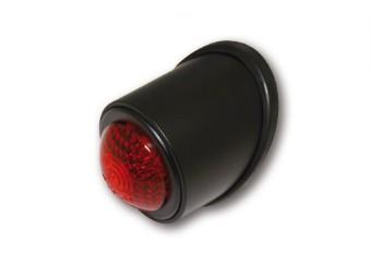 LED-Rücklicht OLD SCHOOL TYP1, schwarz, rotes Glas, E-gepr.