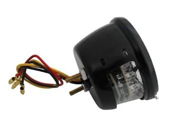LED-Rücklicht STOP, Klarglas, schwarz, E-gepr.