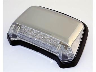 LED-Rücklicht für Fender, chrom, Klarglas, E-gepr.
