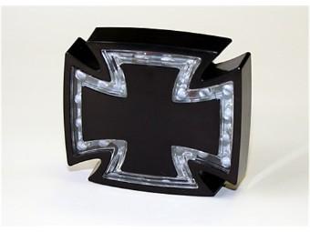 LED-Ruecklicht GOTHIC, schwarz, Klarglas, E-gepr.