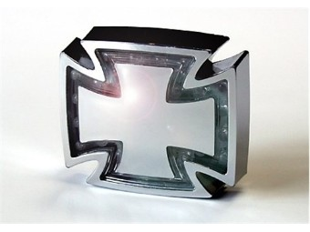 LED-Ruecklicht GOTHIC, chrom, Klarglas, E-gepr.