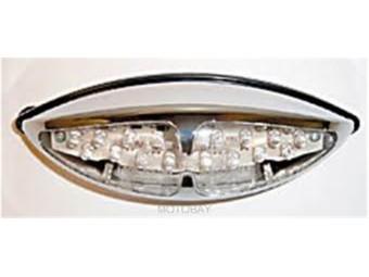 LED-Doppel-Rücklicht L.A., verchromt, E-geprüft