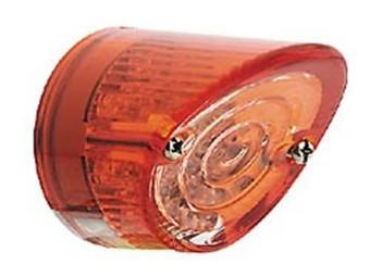 LED-Mini-Rücklicht NOSE, rund, E-geprüft, Glas rot/transparent